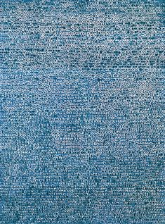 "김환기 (Kim Whan-ki). Where, in What Form, Shall We Meet Again? (1970). Abstract pointillist painting. The title comes from a verse in Kim Kwang-sup's poem ""In the Evening."""