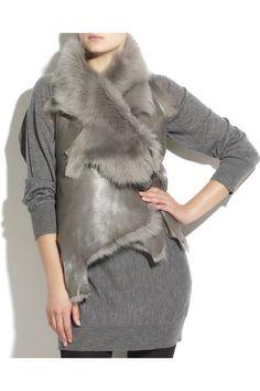 shearling gilet - Google Search Fur Coat, Google Search, Jackets, Fashion, Winter Fashion Looks, Down Jackets, Moda, Fashion Styles, Fashion Illustrations