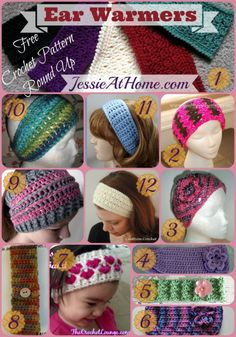 12 Free Earwarmer #crochet patterns - STOP searching and START making. | CrochetStreet.com @Jessie_AtHome