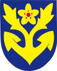 Vuosaaren vaakuna ja isännän viiri Coat Of Arms, Superhero Logos, Finland, Helsinki, Gallery, Fictional Characters, Weapons Guns, Roof Rack, Family Crest