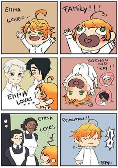Memes Yakusoku no Neverland I Love Anime, All Anime, Manga Anime, Vocaloid, Funny Memes, Hilarious, Estilo Anime, Haikyuu Anime, Anime Ships
