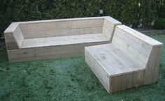 Reclaimed bench seating