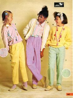 1985. Kids fashion in the 80's. Sears Christmas Catalog
