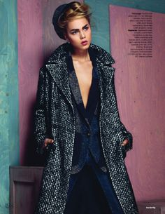 visual optimism; fashion editorials, shows, campaigns & more!: the clash: line brems by kal griffig for uk elle july 2014