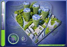 Imaginary World: Estas torres ecológicas futurístas podrían existir en el París de 2050