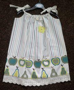 Apples & Pears Pillowcase Dress by joanneshandmade, $20.00