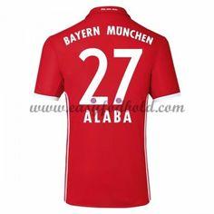 Fodboldtrøjer Bundesliga Bayern Munich 2016-17 Alaba 27 Hjemmetrøje