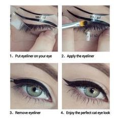 10 PCS Wing Eyeliner Template Stencil Eye Makeup