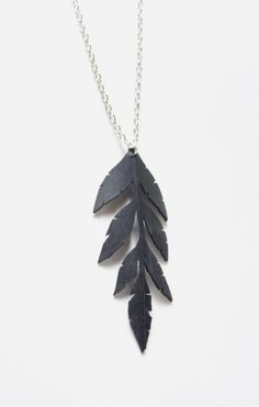 Tread & Pedals - Leafy Necklace - handcrafted from an upcycled bicycle inner tube