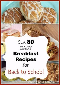 We have a fun post today! Easy Breakfast Recipes for Back to School. You can save a ton of money by creating a breakfast menu plan. Check out these recipes, because many of them you can cook in the crockpot, make the night before or even freeze! These simple idea will help you have breakfast ready in just a few minutes.
