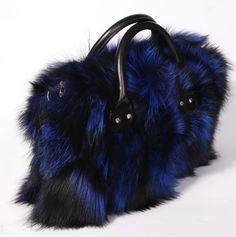 Multicolor Real Fox Fur Bag for Women with Single Strap Messenger Tote  Handbags Ladies Fur Shoulder Bags Gift Crossbody Clutch fcda637ea5f63