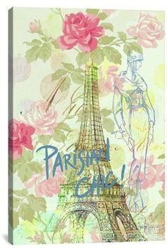 Icanvas 'Parisian Chic - Guy Jinn' Giclee Print Canvas Art