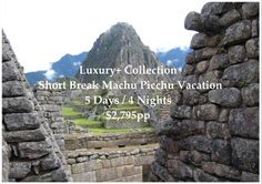 Note that the tour starts and ends in Cusco as standard.  You will be offered Flights Lima / Cusco / Lima as part of the booking process.
