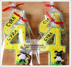 Number 4 cookies