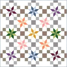 Star quilts (part Free Paper Piecing Patterns, Star Quilt Patterns, Star Quilts, Quilt Blocks, Quilting Tutorials, Quilting Designs, Diy Quilting, King Size Quilt, Batik Quilts