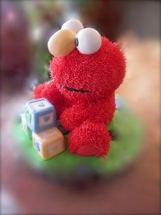 Elmo cake Elmo Cake, Sesame Street Party, Elmo Party, 3d Cakes, Cake Stuff, Decorated Cakes, Cookie Monster, Baby Shower Parties, Amazing Cakes