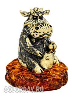 "фигурка ""Корова с Мороженым"" Baltic Amber, Pocket Watch, Accessories, Pocket Watches"