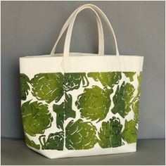 Artichoke Green Canvas Bag