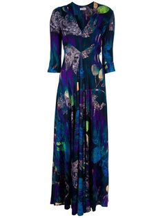 Blue maxi dress from Matthew Williamson.
