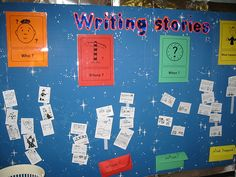 Interactive Displays - word wall Writing Stories