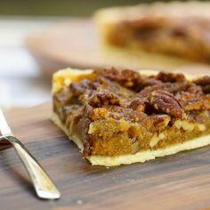 Tarte aux noix et noix de pécan (pecan pie)