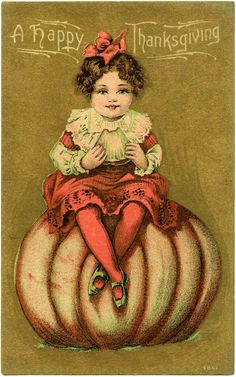"""Cute Vintage Thanksgiving Card! 