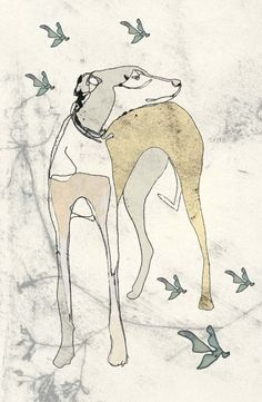 Dog Illustration Love this[[and would love to see a standard poodle!