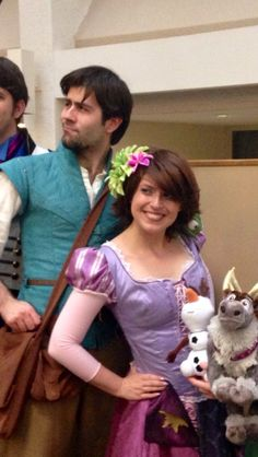 https://www.facebook.com/Theticketybootrunk  Rapunzel and Flynn at CONvergence in MN