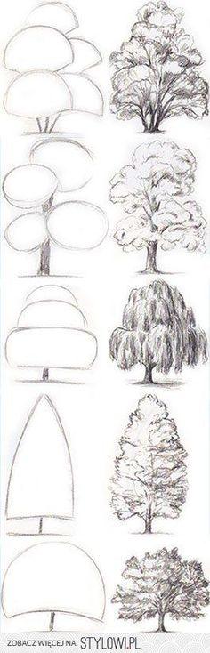 Skizzen von Bäumen auf Stylowi.pl  #auf #baumen #skizzen #stylowi #Stylowipl #von