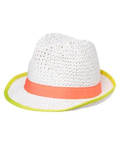 Neon Trim Crochet Fedora at Gymboree