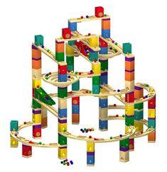 Hape Quadrilla Marble Run Wood Block Toys - beautiful!