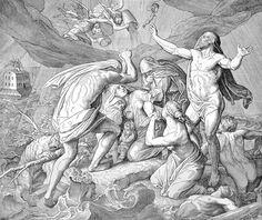 Bilder der Bibel - Die Sündflut - Julius Schnorr von Carolsfeld