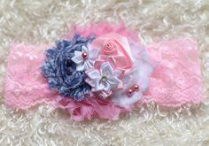 white blue pink baby Headband baby Headband by https://sallyannasunshine.com/
