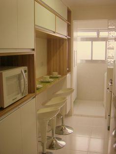 Armário de cozinha - Cozinhas Planejadas para Apartamentos Pequenos adriana victorelli 34840