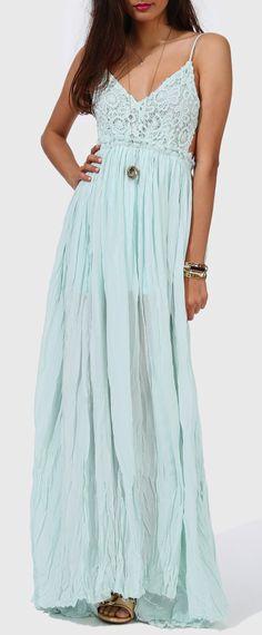 Soft Mint Boho Maxi Dress want this dress! Soft Mint Boho Maxi Dress want this dress! Boho Fashion, Fashion Beauty, Fashion Outfits, Fashion Rings, Pretty Dresses, Beautiful Dresses, Winter Wedding Outfits, Best Maxi Dresses, Formal Dresses