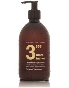 """Michael Van Clarke: Pre-wash Treatment / """"Most people have healthy hair at the roots but can't grow healthy hair to the length they want. Modern lifestyles; heat styling, colouring, sun, sea - all damage and age the hair shaft. This wonder treatment with a unique cashmere protein and amino acid blend, slows the aging process and helps your hair grow longer faster."""""""