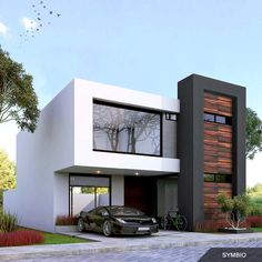 Modern Exterior House Designs, Modern House Design, Floor Plans 2 Story, Applis Photo, Villa, Residential Architecture, Townhouse, House Plans, New Homes