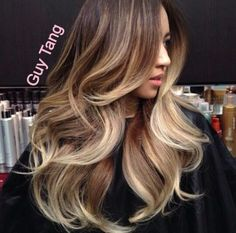 Brown and blonde