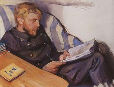 "urgetocreate: ""Zinaida Serebriakova, Portrait of Boris Serebryakov, 1908 """