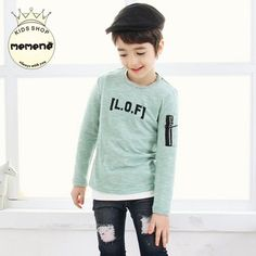 Find More T-Shirts Information about 2016 Spring Girls Boys T shirt children's clothes letters boys and girls long sleeved T shirt casual t shirt bottoming,High Quality korean game,China korean purse Suppliers, Cheap korean dress from Seanna on Aliexpress.com