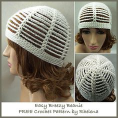 This beanie works up super quick and easy. It's suitable for a beginner and fits a teen/adult size. And it's perfect for the spring, summer or fall.