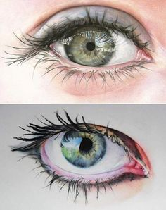 ; OO #drawing #art #eyes Inspirational Artwork, Drawing Techniques, Learn To Draw, Evil Eye, Drawing Art, Colored Pencils, Fig, Anatomy, Cool Art
