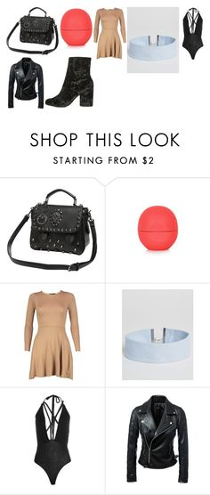 """""""date night with partner outfit"""" by staleysadie on Polyvore featuring Eos, Boohoo, ASOS and Topshop"""