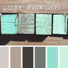 11 peaceful paint palettes inspiredthe sea | beach color