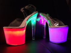 This is how to rock pole shoes! ;)  Aura Heels Galaxy Platforms by AuraHeels on Etsy