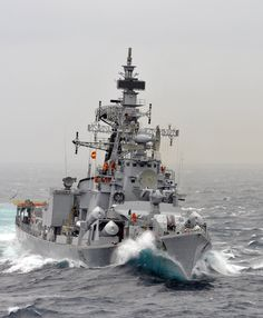 INS Ranvir, a Rajput class Destroyer of the Indian Navy.