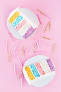♡ Cotton candy : Pastel birthday cake! | studiodiy.com
