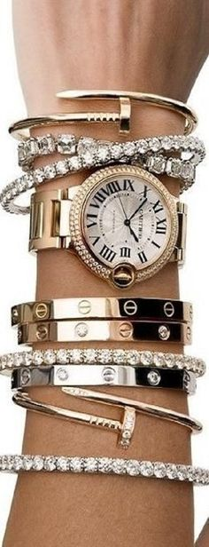 arm full of #Cartier