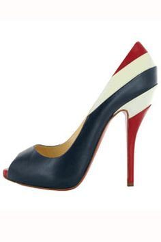 louboutin -would love to have these, I'd wear them every 4th of July!