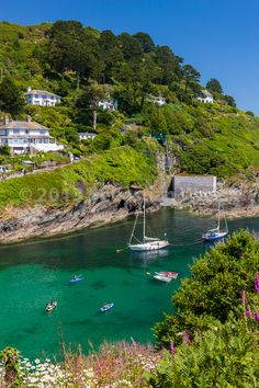 The coastal village of Polperro in Cornwall, England beautiful place recently visited